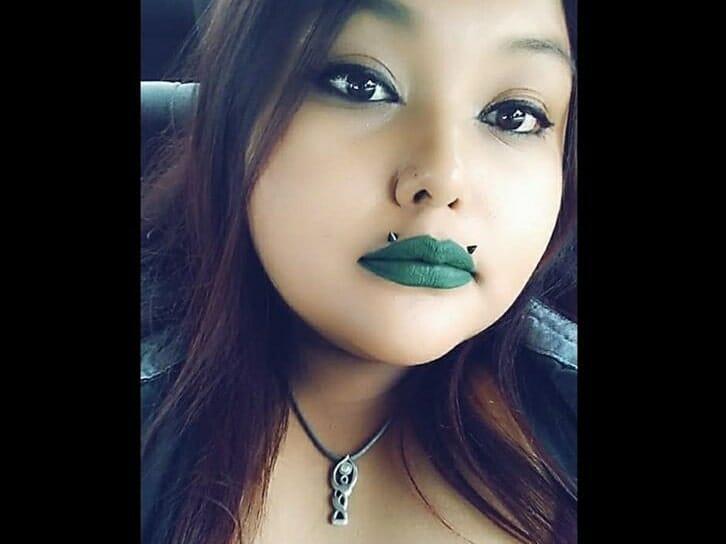 upper lips two piercings