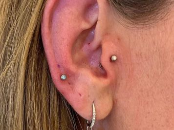 auricle and tragus