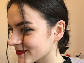 auricle piercing images