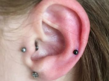 auricle piercing mini stud