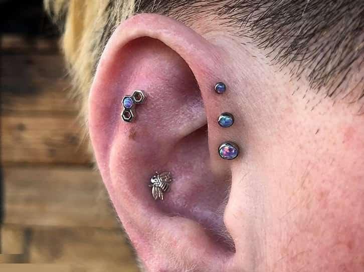 best ear triple jewelry