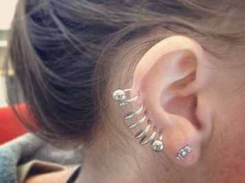 best image spiral ear piercing