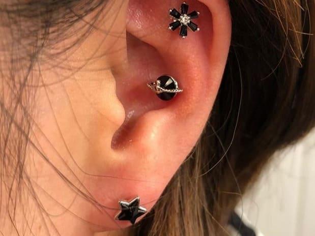 black ear jewelry