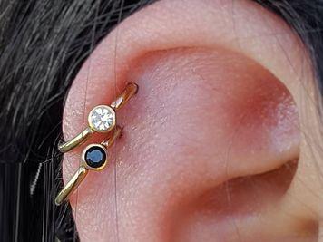 cbrs double cartilage piercing