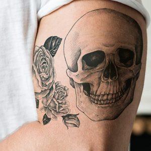 Closeup of tattoo