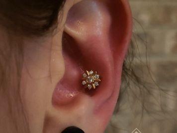 conch piercing ear