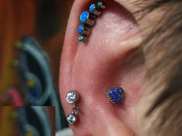 conch piercing swelling