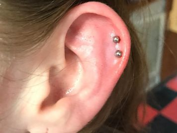 double cartilage piercing gold jewelry
