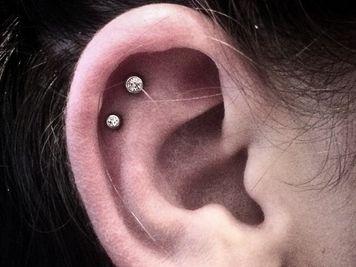 double cartilage piercing jewellery ideas