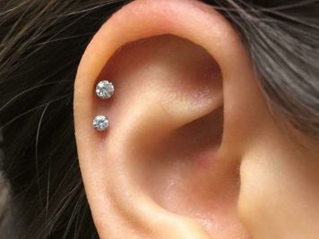 double cartilage piercing price