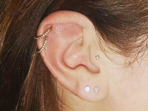 ear jewelry studs and rings