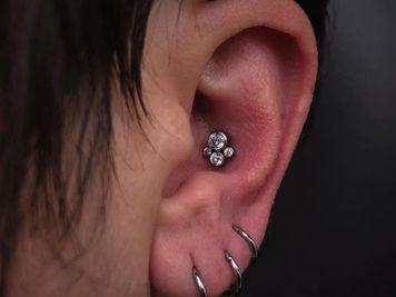 ear conch piercing