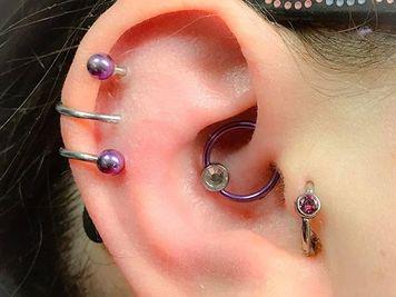 ear spiral piercing image