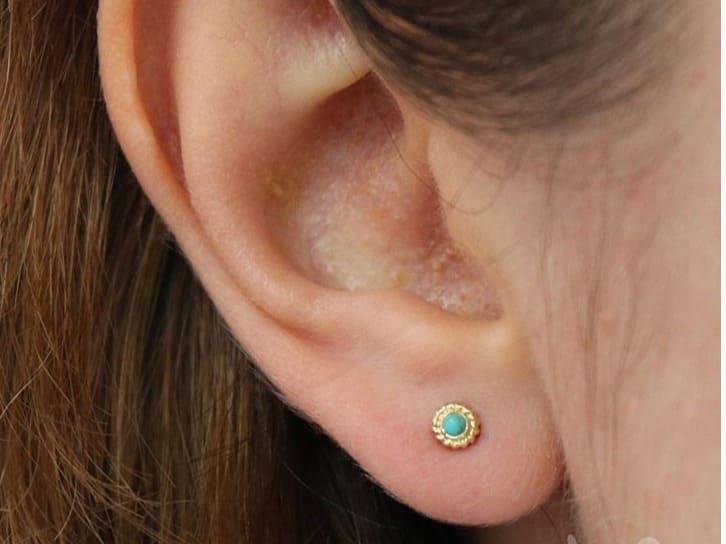 earlobe piercing aftercare