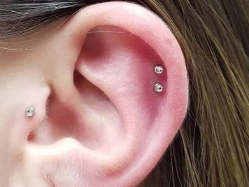earrings double cartilage piercing