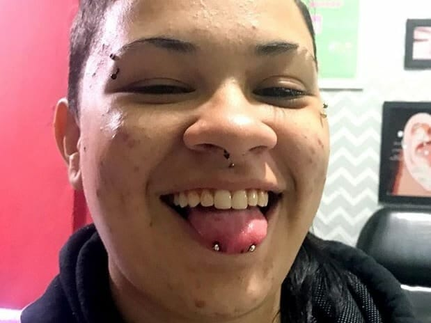 front tongue piercing