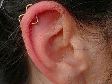 heart ear jewelry