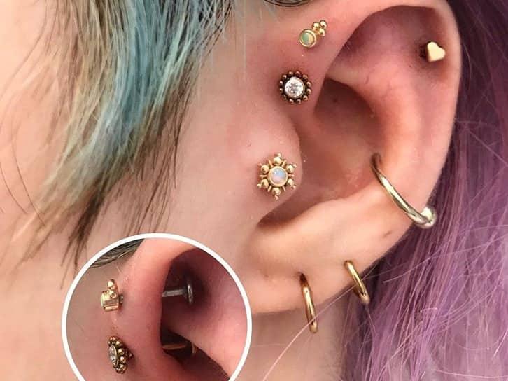 helix piercing forward