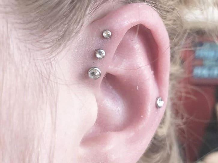 helix triple piercing