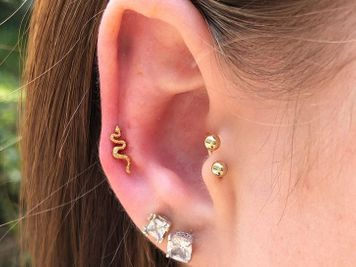 jewelry idea auricle piercing