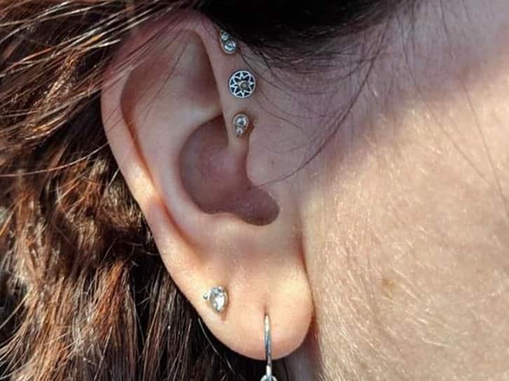 new triple forward helix piercing