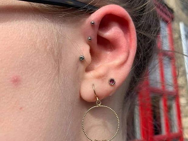 piercing on ear
