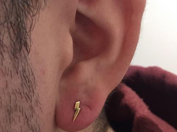 piercing on men lobe