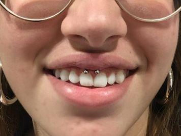 smiley piercing hoops