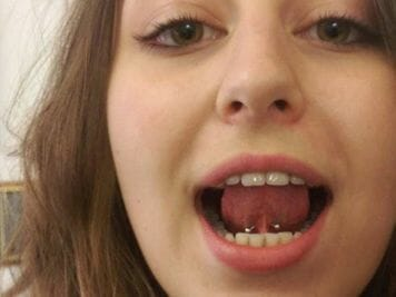 tongue frenulum piercing