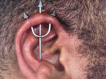 trident piercing men